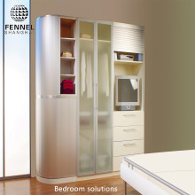 Bedroom Solution Space Saving Customized Wardrobe Plastic Sliding Door Sliding Closet Doors