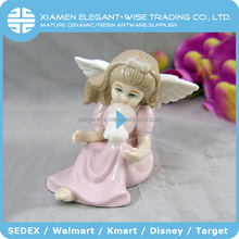 Lovely cheap handmade ceramic wholesale small little angel fairy figurines