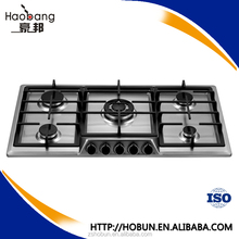 Hot sale stainless steel Built-in kitchen 5 burner gas hob