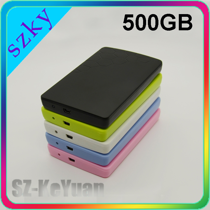 Colorful Plastic Case Laptop External HDD 500GB Portable Hard Drive
