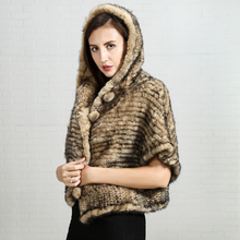 Production of custom luxury fur russian winter latest design long real fashion natural mink knit women fur coats clothes 2017