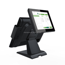 15inch dual screen capacitive touch pos system all in one cash register