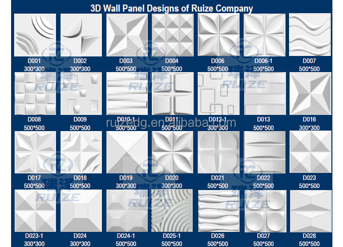 Water Proof 3D Wall Panels Wall Covering / Decorative Outdoor Wall Panels