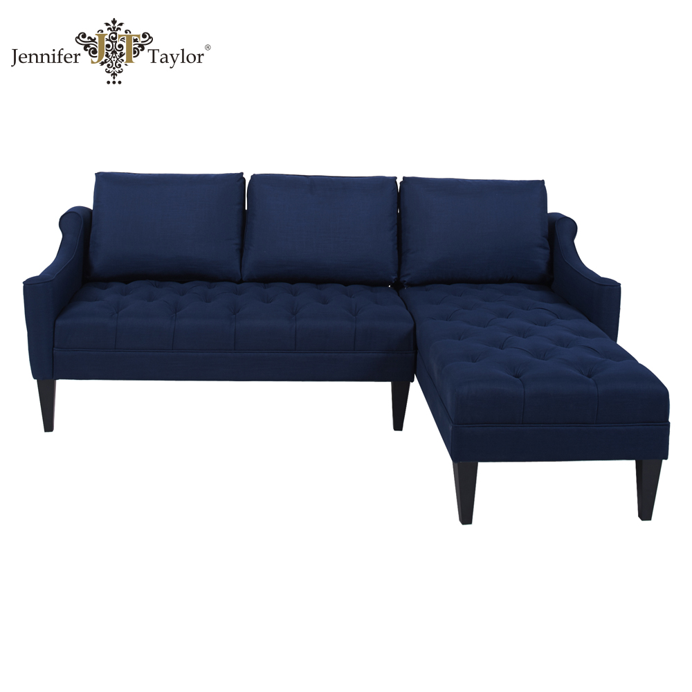 Import furniture from China customize living room sectional couch, factory direct sell one piece MOQ L-shaped sectional sofa