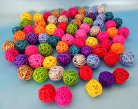 D3mm rattan ball, colorful, diffuser