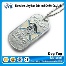 factory directly price metal 3d embossed dog tag