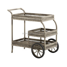 uk vintage style home garden banquet restaurant trolley wicker furniture wine mobile buffet car