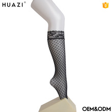 Wholesale ladies seamless fishnet knee high sock