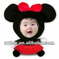 custom 3d plush photo face doll mickey shape 3D face doll