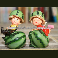 resin kid toys new born baby souvenir