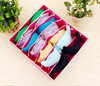 Hot selling bedroom eco-friendly 7 grids underwear bra socks organizer case collapsible storage box