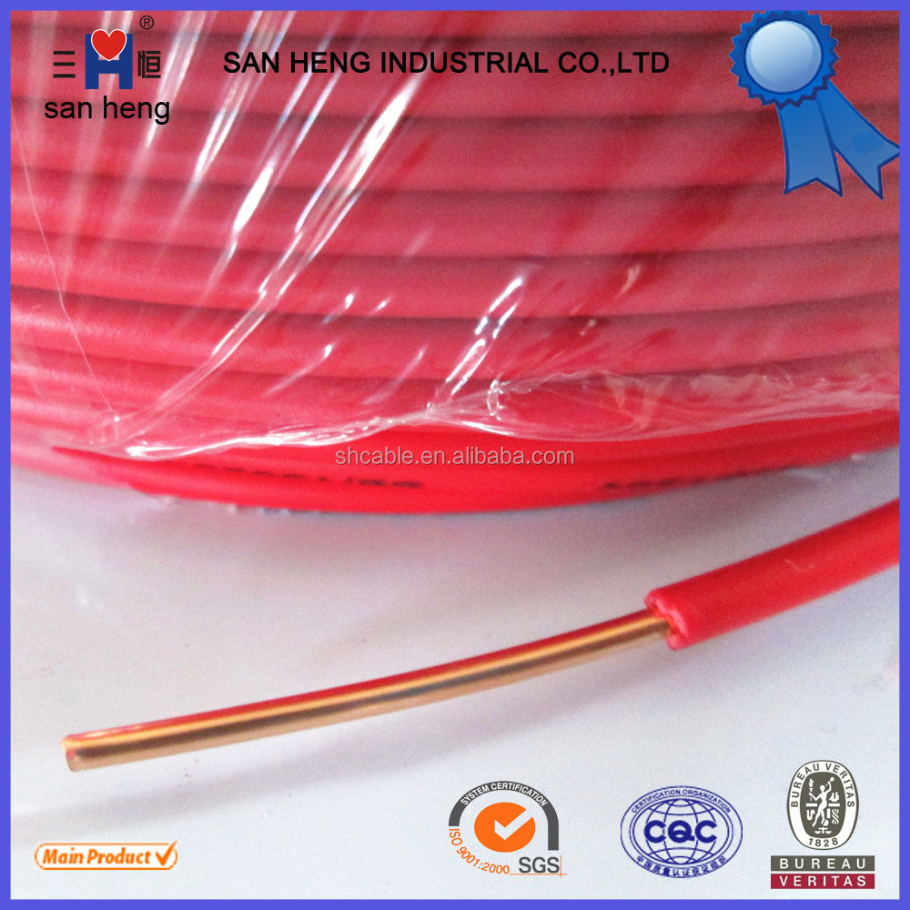 Copper Conductor House Wiring Electrical Cable 1.5mm 2.5mm 4mm 6mm 10mm Electric Wire
