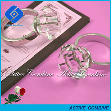 High Clear Design Elegant Napkin Rings for Valentine Day Gifts