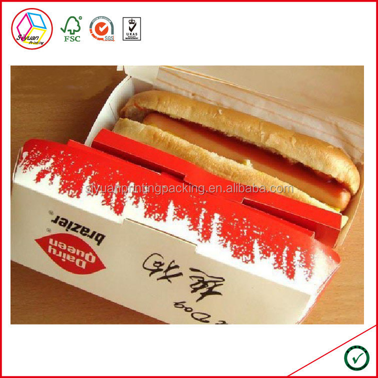 High Quality Custom Paper Hot Dog Box