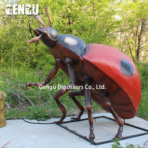 Artificial Insects Huge Animatronic Garden Ladybug Decor