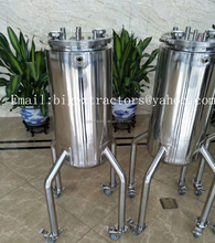 Stainless Stell BHO Extractor Jacketed Recovery Solvent Tank with Wheels
