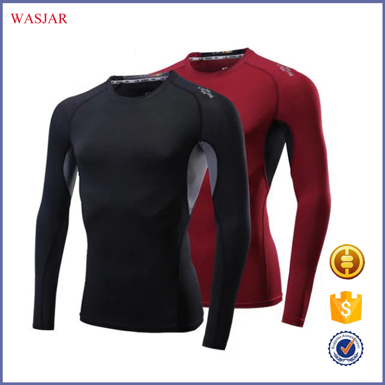 China factory functional mens dry fit gym clothing men long sleeves outdoor sports t shirts/fishing shirts for men made in china
