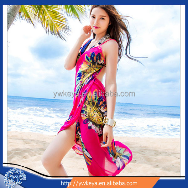 customized printed sarongs chiffon pareo sarong in stock 24 patterns for choice