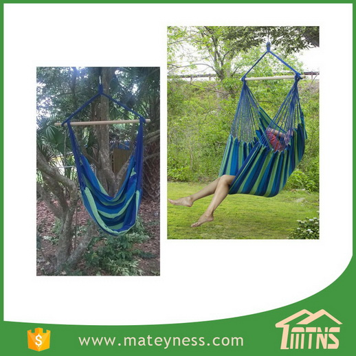 Deluxe Swing Rope Hanging Hammock Chair Porch Yard Tree Hanging Air Swing Outdoor