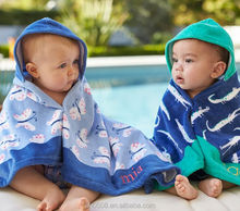 100% Cotton Reactive Printing Lovely Patterns Baby Hooded Wraps Beach Pool towel