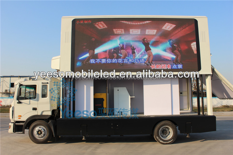 YEESO Outdoor Mobile Truck mounted led tv for advertising&sales,YES-V9