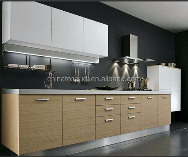 2016 new design melamine kitchen set modern kitchen