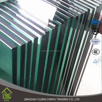 polished edge 10mm toughened glass price manufacturer china wholesale