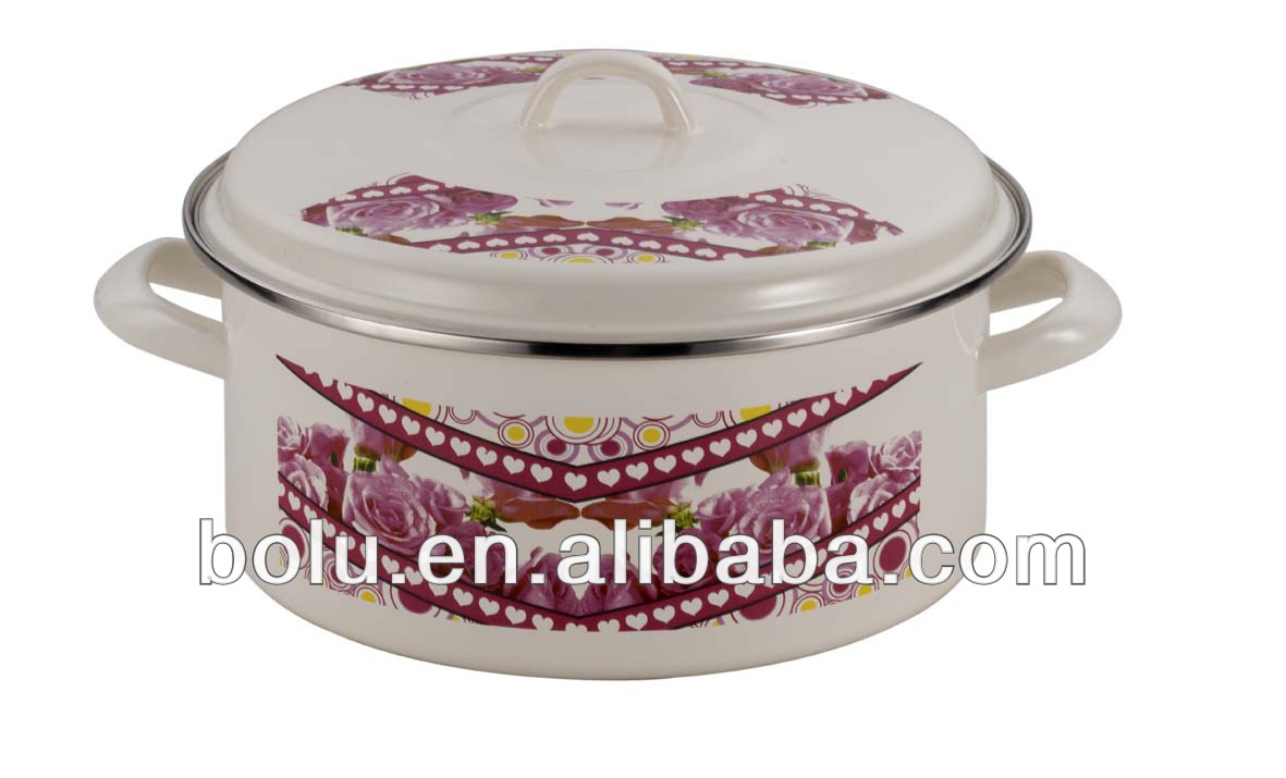 3 pcs casserole set made by enamel material