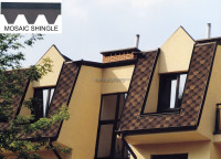 [Roof asphalt tiles manufacturers] Hotsale mosaic fiberglass asphalt roofing shingles prices, cheap building materials