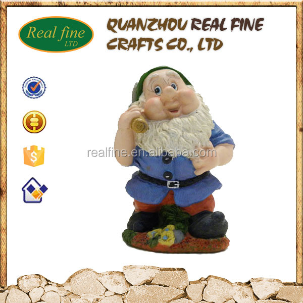 Popular Resin Seven Dwarf Statue Gnome Figures for Garden Decoration Ornament