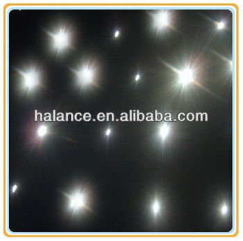 optics fiber star cloths, white color twinkle, with star effect light black stage curtains