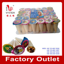 14g Ice cream shape sweet chocolate coated wafers biscuit
