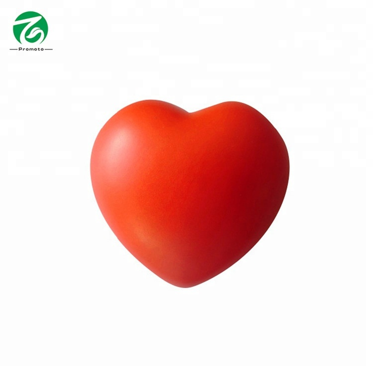 fashion heart shape pu anti stress <strong>ball</strong> for gift