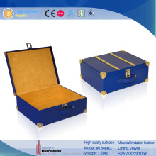 wooden decorative rectangle storage box,wholesale leather suitcase