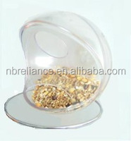 pet food supplies clear window bird feeder