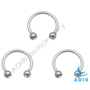 Dongguan steel circular barbell jewelry crystal eyebrow piercing