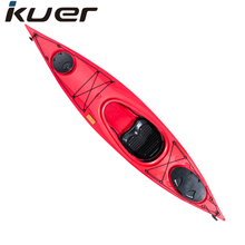 Alibaba best plastic boat Sit in Plastic Sea Kayak With Pedal System