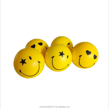 2018 Promotion cute ball PU Smiley Face Stress Ball
