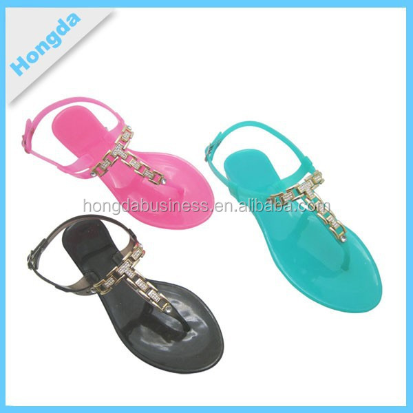 lowest price ladies fancy flat sandal with candy designs
