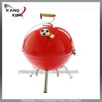 apple and soccer BBQ grill professional quality , mini couple charcoal BBQ grill ,