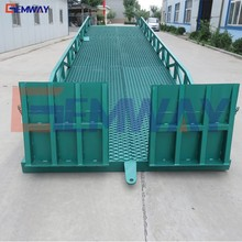 6 ton warehouse hydraulic forklift mobile loading ramp for trailer