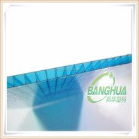 Clear polycarbonate hollow pc sheet 4mm 6mm 8mm
