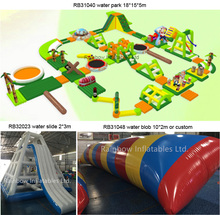 Adult Giant Inflatable Floating Water Slide / Inflatable Sea Water Park For Sale