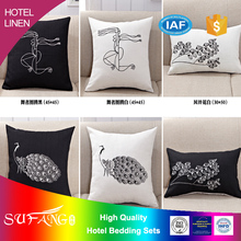 Hotel linen/Chain stitch cushion covers custom design hotel cushion
