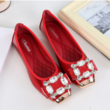 Highlight style ladies soft folding flat shoes women rhinestones flat shoes