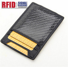 New carbon fiber money clip mens wallet with money clip
