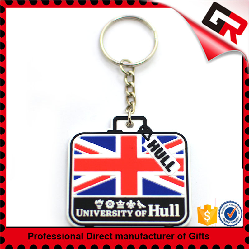 Wholesale cheap soft rubber pvc key chain