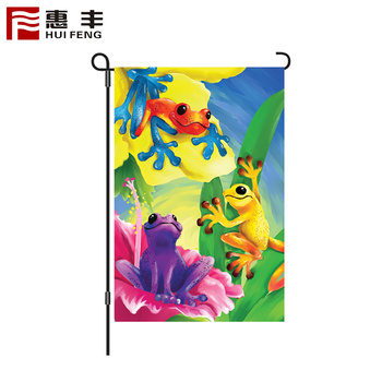 Factory supply double sided seasonal holiday garden flags set