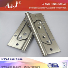 Butterfly flush Door Hinges with Ball Bearing 2 BB stainless steel door hinge