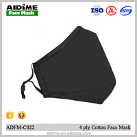 washable black dust face mouth mask without valve anti pollution industrial safety